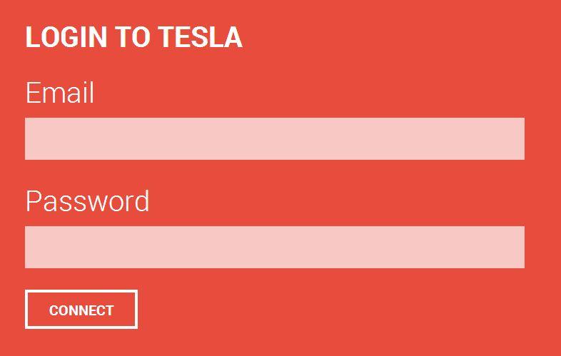 Glass Tesla Logon