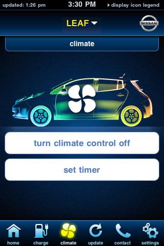 Das intelligente Nissan Carwings Telematiksystem ermöglicht Steuerung über das Smartphone (Quelle: Nissan)