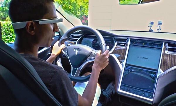 Glass Tesla im Einsatz (Tesa)