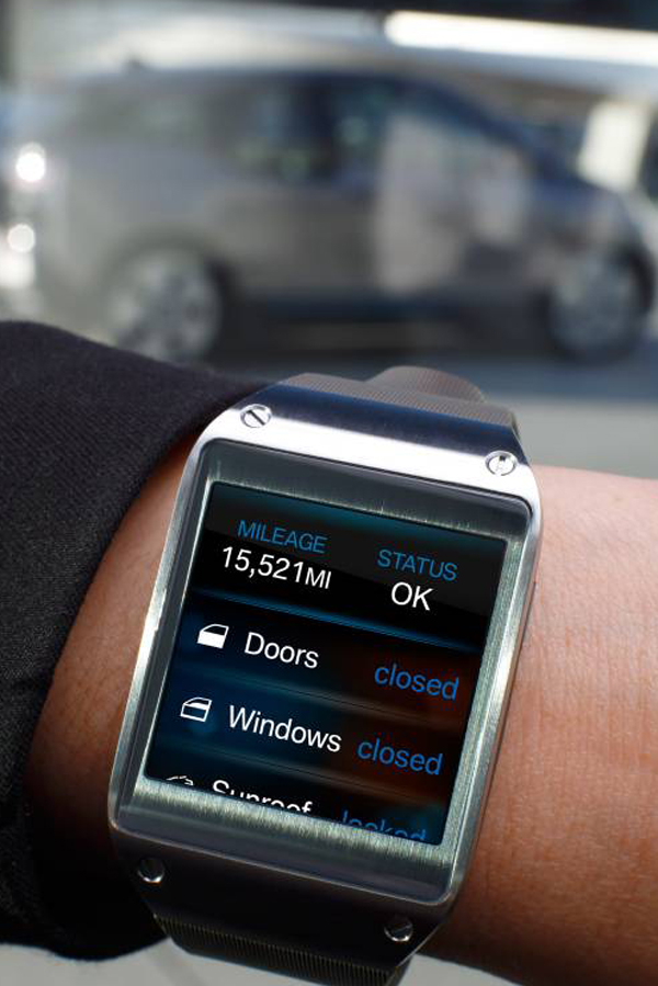 BMW i Remote App und Samsung Galaxy Gear 2