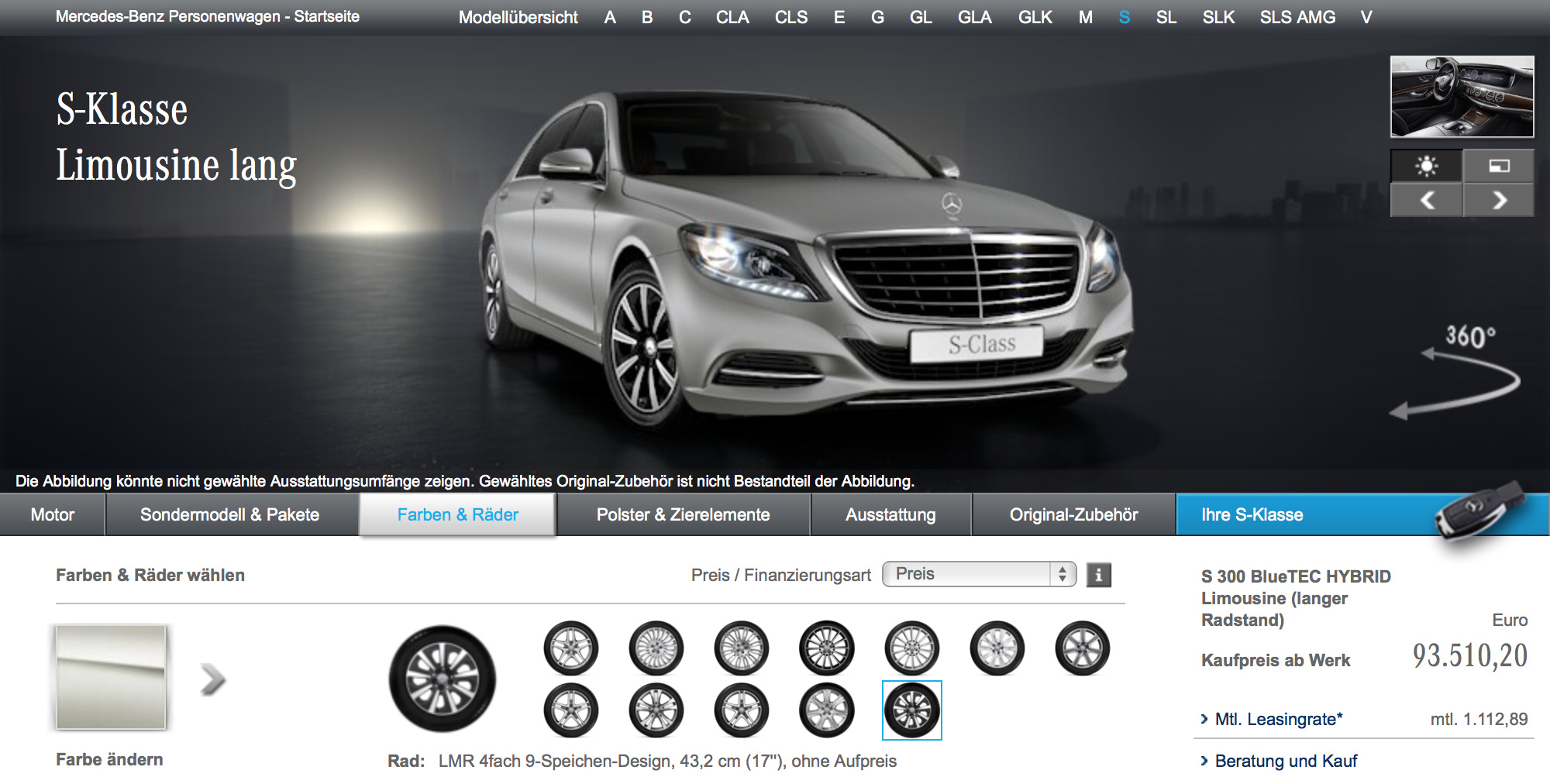 Mercedes-Benz Konfigurator (Mackevision)