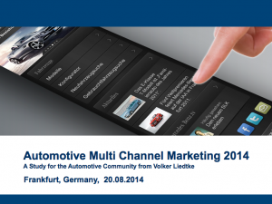 Automotive Multi Channel Marketing 2014 (V. Liedtke)