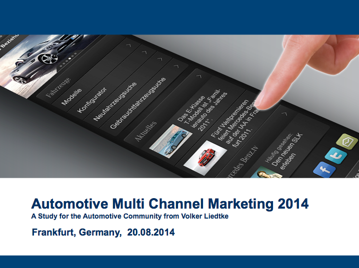 Automotive Multi Channel Marketing 2014 (Volker Liedtke)