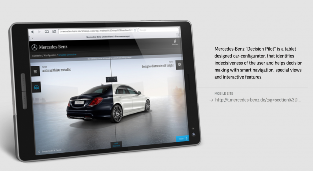Mercedes-Benz Decision Pilot - MOBILE OF THE DAY by The FWA