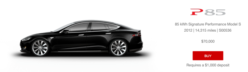 Tesla Model S P85 - gebraucht und online (Tesla) Blogomotive - Inside Automotive Marketing