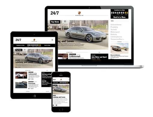 Porsche Newsroom Home Pages (C3)