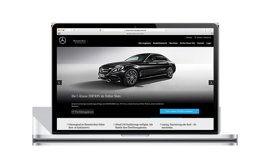 Kürzlich gelauncht: der Mercedes-Benz-Online-Store. (Foto: Mercedes-Benz Online-Store)
