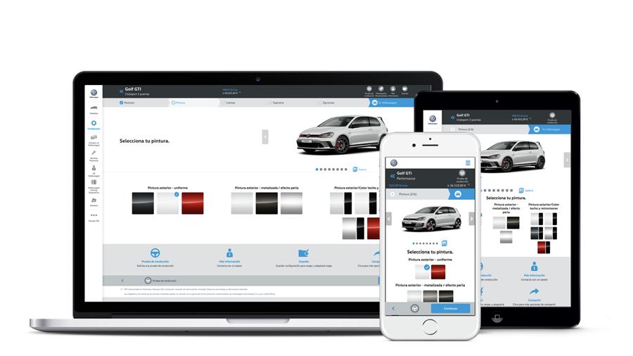 Der neuer VW-Konfigurator in Spanien - Einstieg (Website Screenshots)