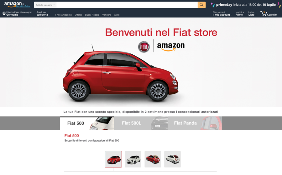 Fiat Brand Store auf Amazon (Amazon.it)