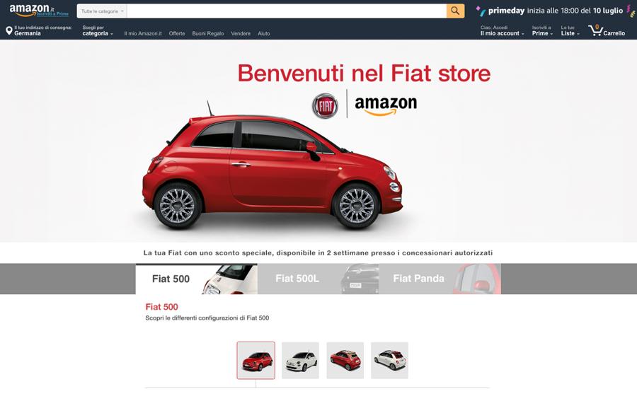 Fiat Brand Store auf Amazon (Amazon.it)