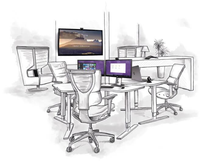 Vertical steht für die Digitale Transformation von Arbeitsplätzen (Vertical)