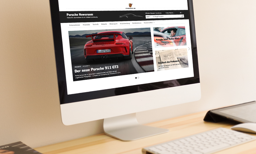 Porsche Newsroom - deutsche Version (Porsche)