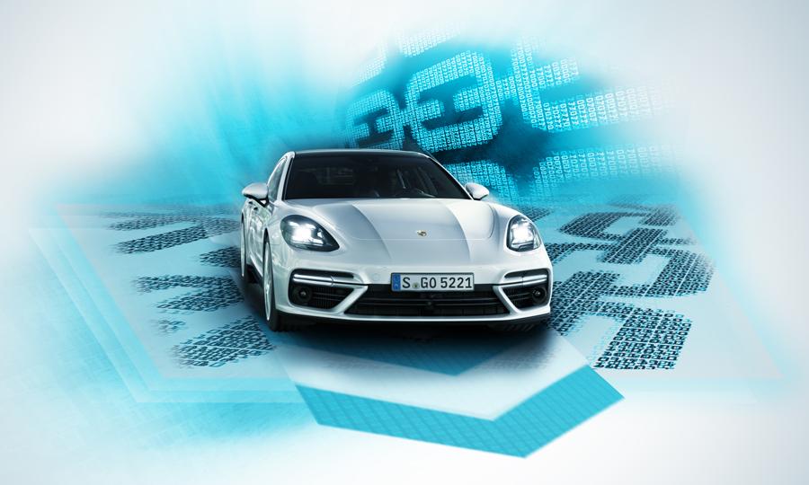 Ein Porsche wird ein Teil der Blockchain(Porsche)