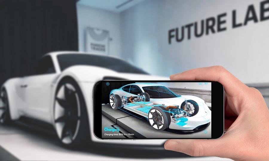 Mission E Augmented Reality: Verknüpfung der physischen und digitalen Welt (Porsche)