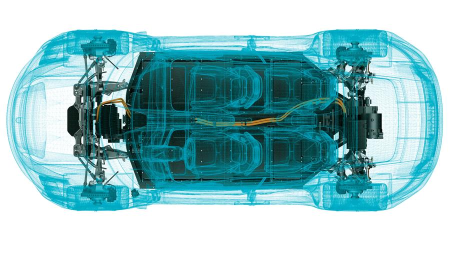 Schlüsselmodell der Digitalisierung: Antrieb des Porsche Mission E (Porsche)