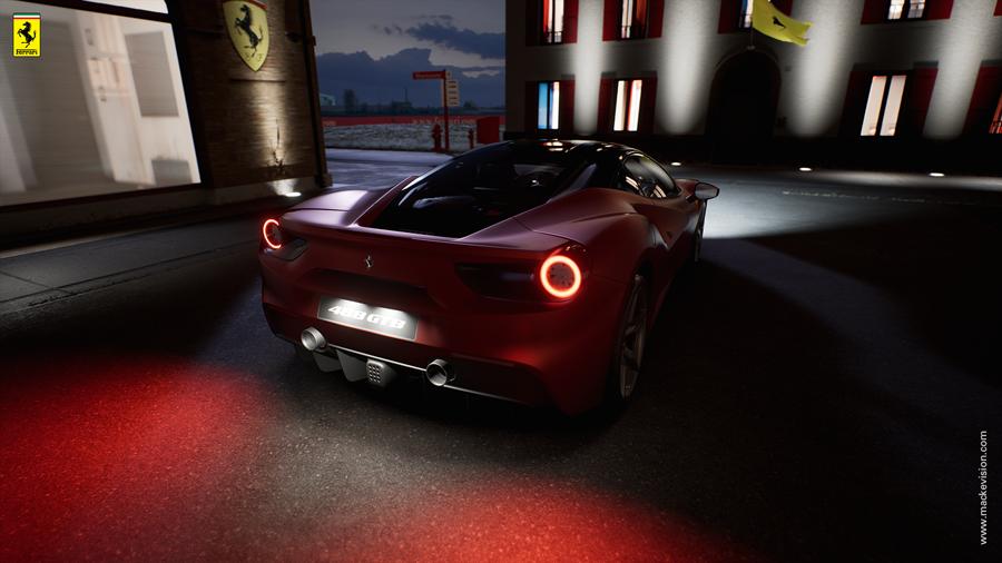 Ferrari Konfigurator im Händler-Showroom 1 (Mackevision)