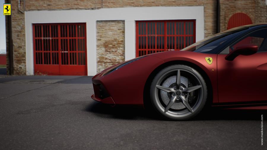 Der Ferrari Konfigurator im Händler-Showroom (Mackevision)