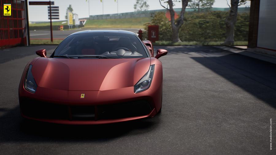 Ferrari Konfigurator im Händler-Showroom 3 (Mackevision)