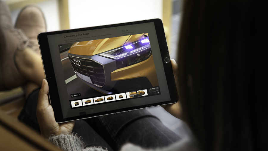 Lean back: neuer Audi-Konfigurator basiert auf Game Engine-Technologie (Audi AG)