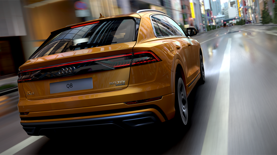 "Audi Car Configurator bald mit den Surroundings ""Chicago Night"" und ""LA Vista"" (Audi AG)"