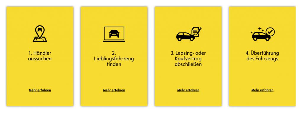 Im OpelStore gliedert sich der Kaufprozess in vier Schritte (Opel)